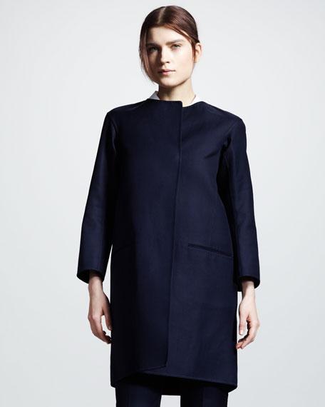 One-Button Gabardine Coat