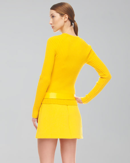 Crepe Circle-Pocket Skirt