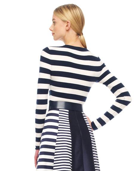 Striped Cashmere Top