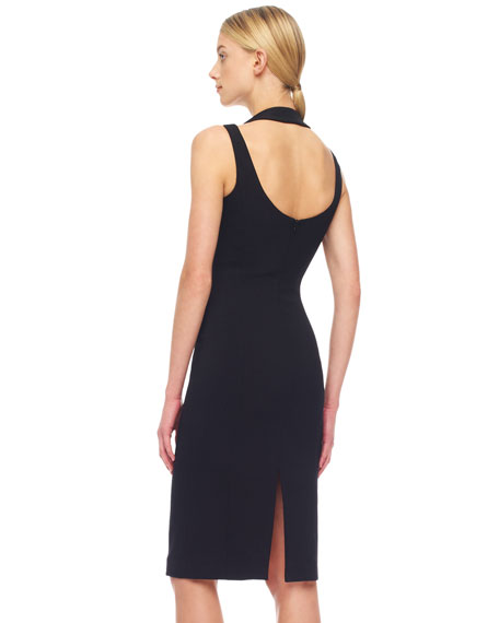 Crepe Fitted Halter Dress