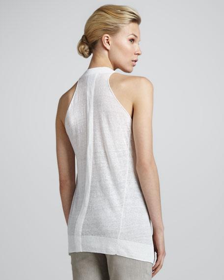 Racerback Linen Tunic, White