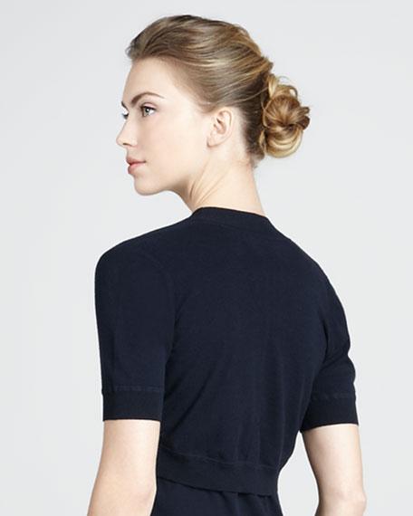 Short-Sleeve Shrug, Navy