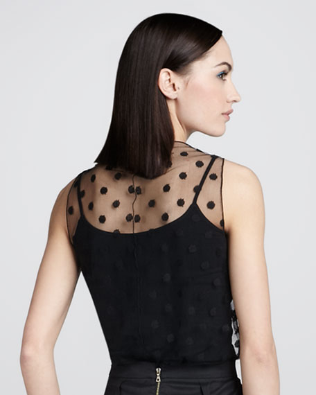 Point D'esprit Sheer Top and Camisole