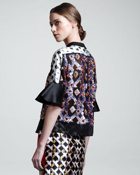 Tilda Printed Half-Sleeve Blouse