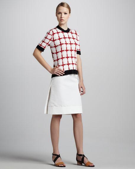 A-Line Cotton Cady Skirt