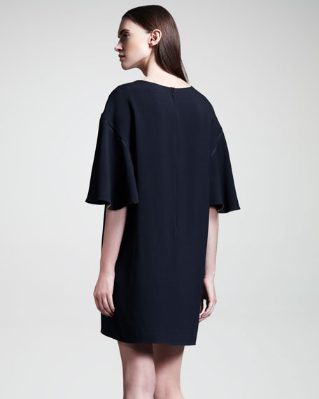 Cady Flutter-Sleeve Dress