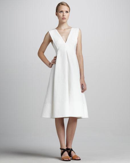 Sleeveless V-Neck Cady Dress