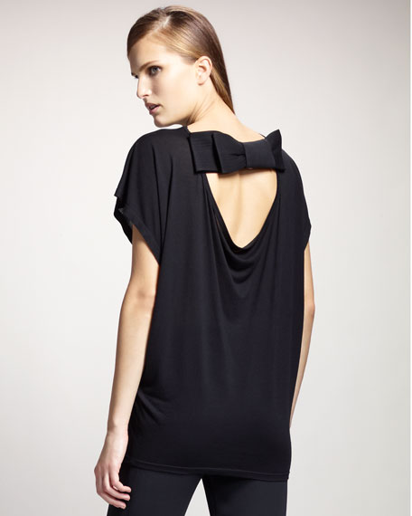 Back-Bow Jersey Top