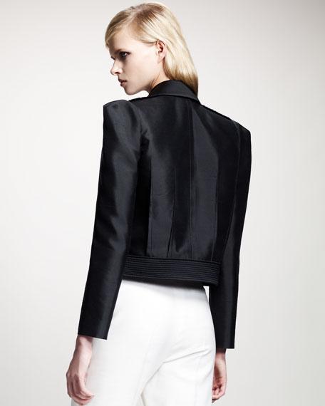Tricolor Strong-Shoulder Jacket