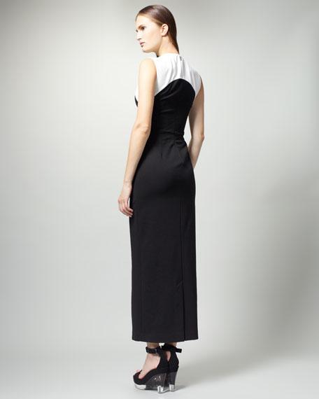 Long Colorblock Dress