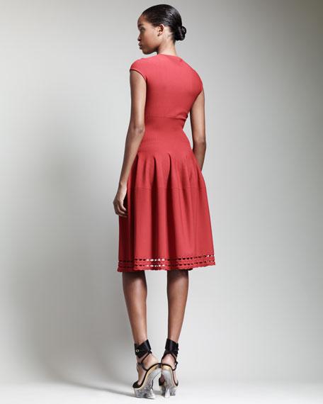 Cap-Sleeve Full-Skirt Dress