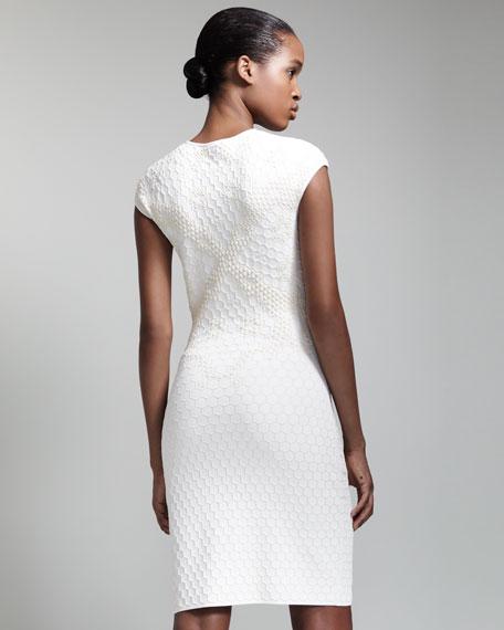 Honeycomb & Bee 3D Jacquard Dress