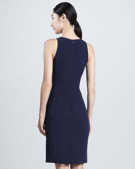 Square-Neck Sleeveless Dress, Navy