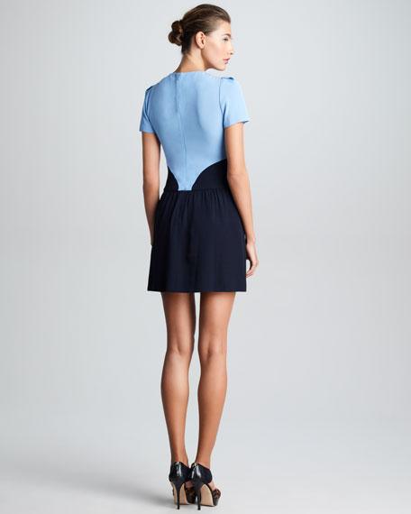 Satin-Back Crepe Heart Dress