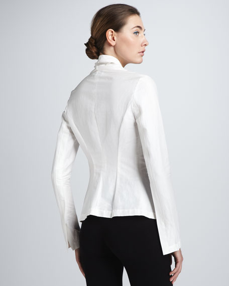 Twill Stretch Tux Shirt, Ivory