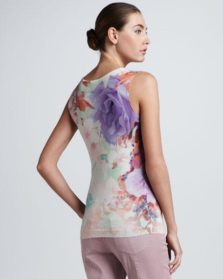 Floral-Print Sleeveless Shell