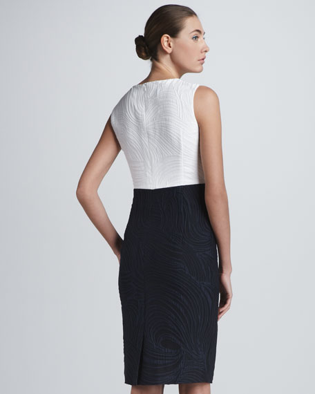 Colorblock Jacquard Dress