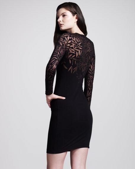 Devore Long-Sleeve Minidress
