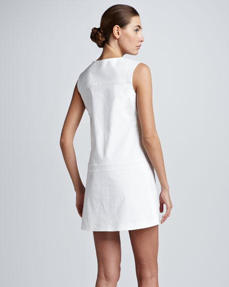 Split-Neck Sleeveless Tunic/Dress