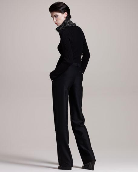 Wide-Leg Tuxedo Pants