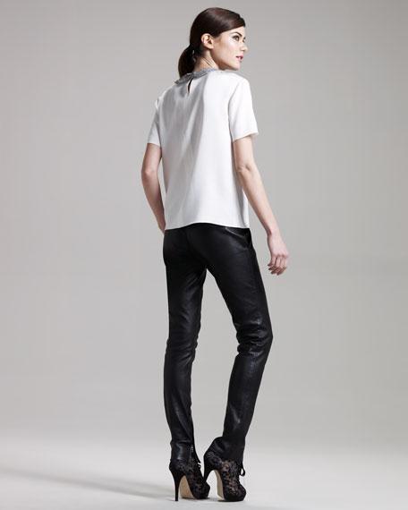 Leather Zip Leggings