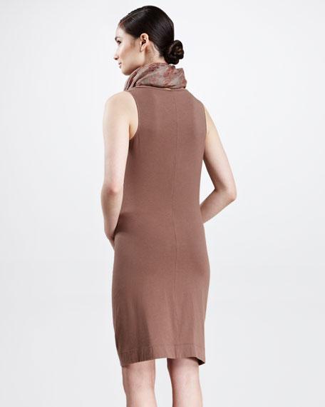 Draped Cotton Jersey Dress, Kangaroo