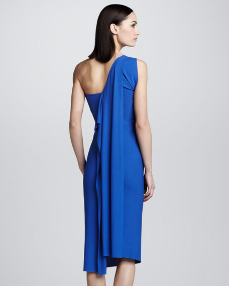 Wimba Draped Dress, Cobalt