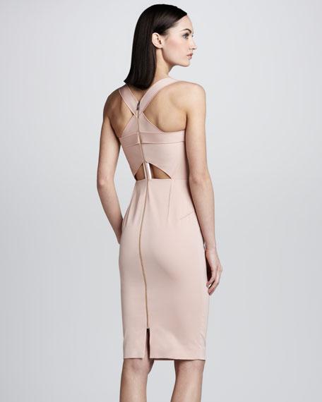 Piora Cross-Back Sheath Dress, Light Pink