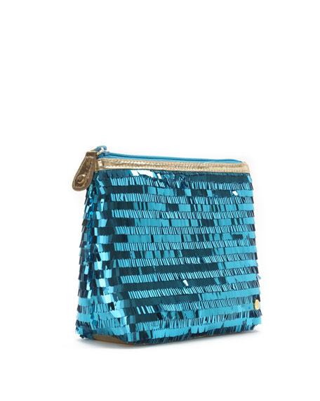 Ibiza Sparkle Clutch Bag, Turquoise