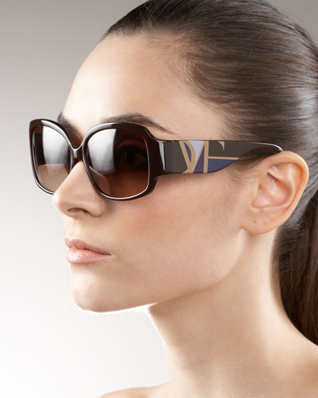 Geometric-Temple Sunglasses