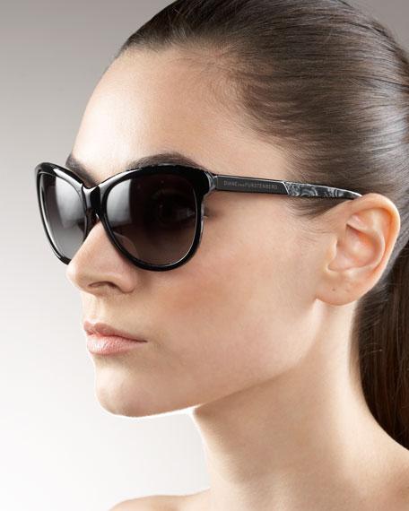 Patterned Plastic Sunglasses