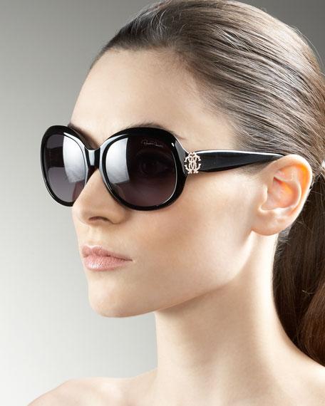 Crystal Logo Sunglasses