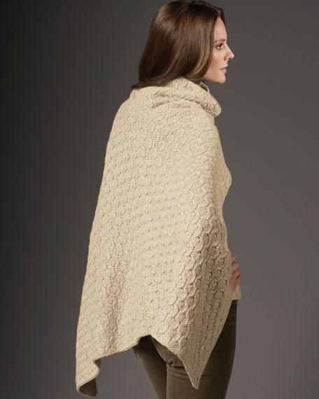 Knit Cashmere Poncho