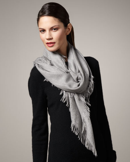 Maxi Carre Leggero Square Scarf, Light Melange
