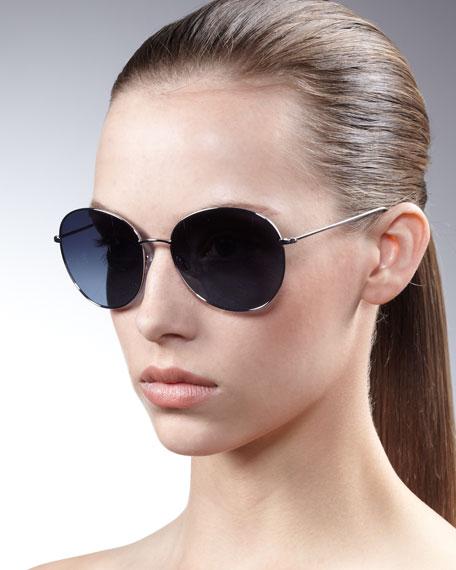 Blondell Round Aviator Sunglasses