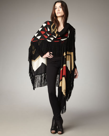 Leighton Fringed Cape