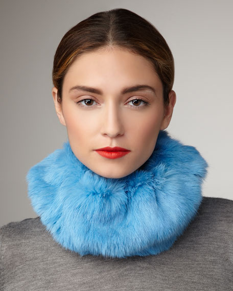 Rabbit Head- & Neck-Warmer, Blue