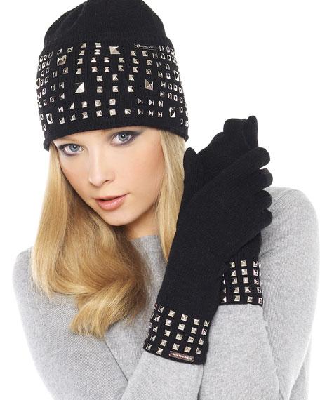 Pyramid-Stud Gloves