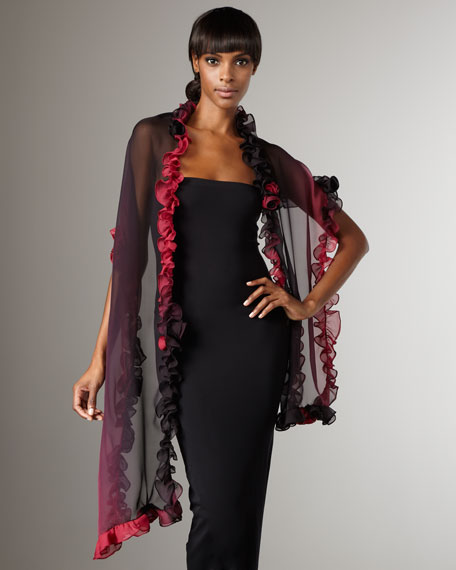 Ruffled Ombre Stole
