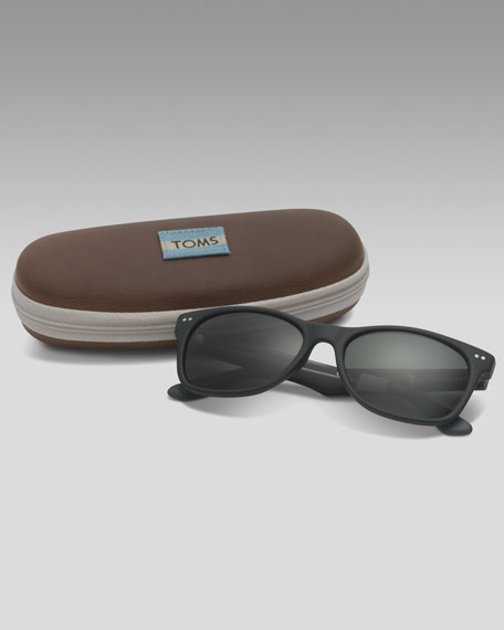 TOMS Eyewear Classic 101 Sunglasses, Black/Gray
