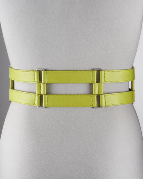 Cutout Leather Belt