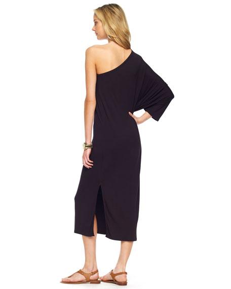 One-Shoulder Poncho Dress