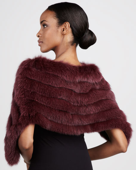 Fox Fur Capelet, Bordeaux