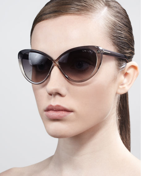 Madison Oversized Cat-Eye Sunglasses