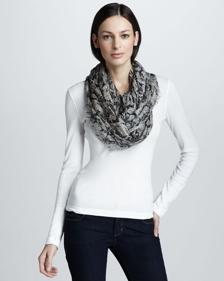 Lace-Print Scarf