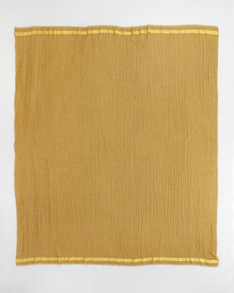 Cashmere-Silk Scarf, Moutarde