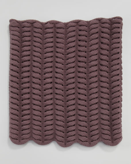 Snowbunny Knit Snood, Purple Smoke