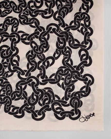 Kenley Chains Cashmere Scarf