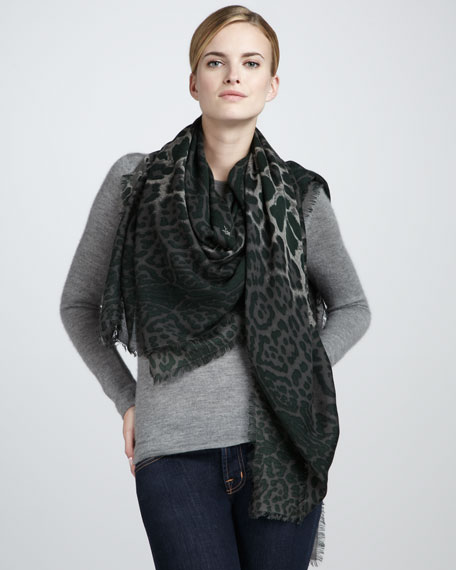 Animal-Print Extra-Large Scarf