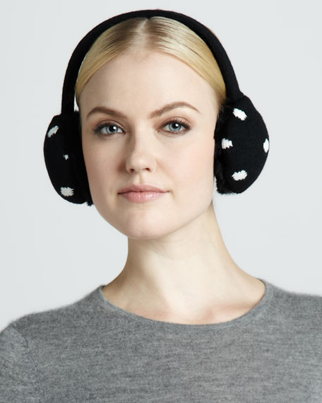 big apple tech ear muffs, black/cream